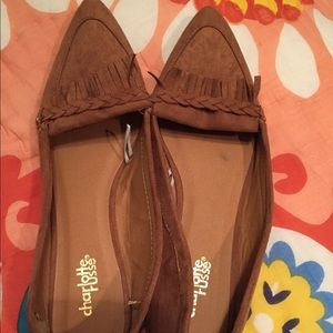 Charlotte Russe flat pointed toe loafers